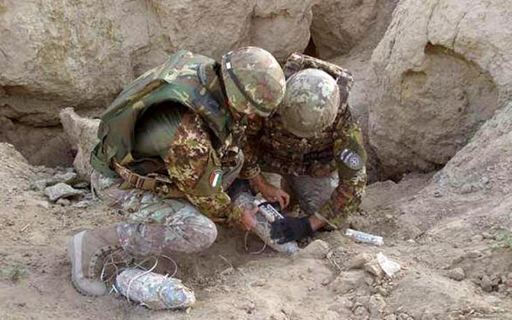 Uranio impoverito, militari recuperano munizioni